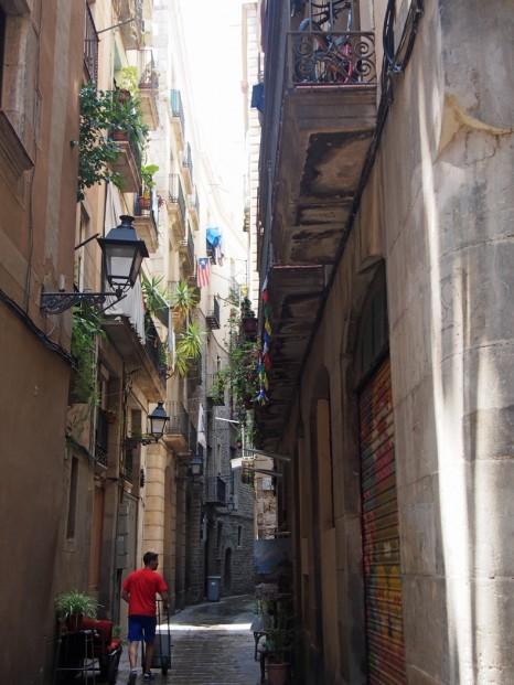 バルセロナの小径
