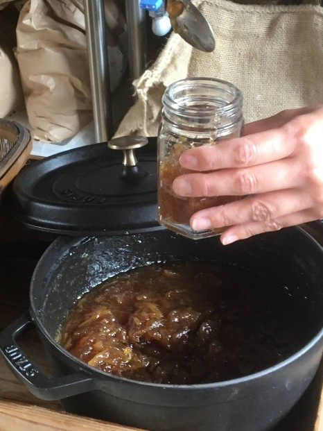 Kitchen313Kamiyuge オリジナルのジャム。きび砂糖使用。
